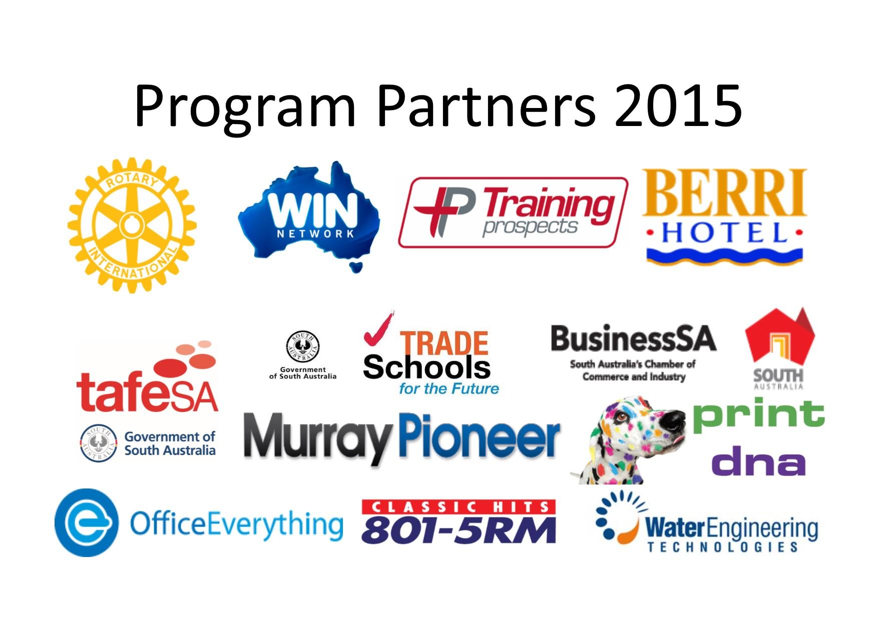 Rotary program partners 2015